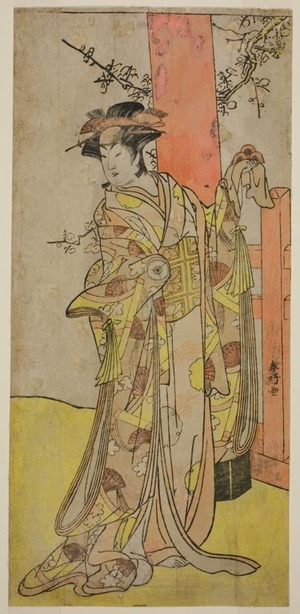 Katsukawa Shunko: The Actor Iwai Hanshiro IV as Kitsune ga Saki Otama (?) in the Play Miyakodori Yayoi no Watashi (?), Performed at the Kiri Theater (?) in the Third Month, 1787 (?) - Art Institute of Chicago