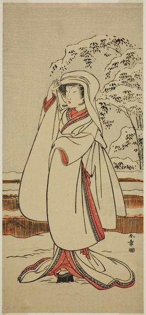 勝川春章: The Actor Segawa Tomisaburo I as the Heron Maiden (Sagi Musume) - シカゴ美術館