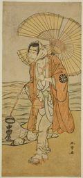 勝川春章: The Actor Nakamura Nakazo I as the Renegade Monk Dainichibo in the Play Edo Meisho Midori Soga, Performed at the Morita Theater in the First Month, 1779 - シカゴ美術館