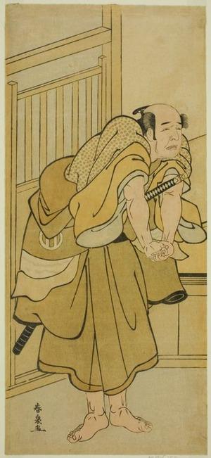 Katsukawa Shunsen: The Actor Asao Tamejuro I as Drunken Gotobei in the Play Yoshitsune Koshigoe Jo, Performed at the Ichimura Theater in the Ninth Month, 1790 - Art Institute of Chicago
