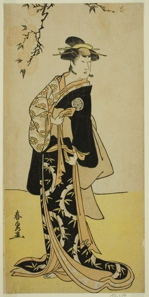 Katsukawa Shunsen: The Actor Yamashita Mangiku I as Lady Yuya (Yuya Gozen) (?) in the Play Heike Hyobanki (?), Performed at the Nakamura Theater (?) in the Seventh Month, 1789 (?) - Art Institute of Chicago