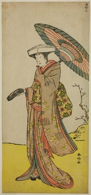 勝川春好: The Actor Nakayama Kojuro VI as Chinzei Hachiro Tametomo Disguised as Lady Hotoke (Hotoke Gozen) in the Play Yukimotsu Take Furisode Genji, Performed at the Nakamura Theater in the Eleventh Month, 1785 - シカゴ美術館