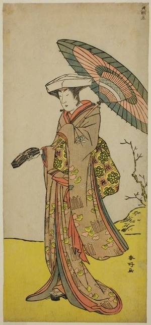 Katsukawa Shunko: The Actor Nakayama Kojuro VI as Chinzei Hachiro Tametomo Disguised as Lady Hotoke (Hotoke Gozen) in the Play Yukimotsu Take Furisode Genji, Performed at the Nakamura Theater in the Eleventh Month, 1785 - Art Institute of Chicago