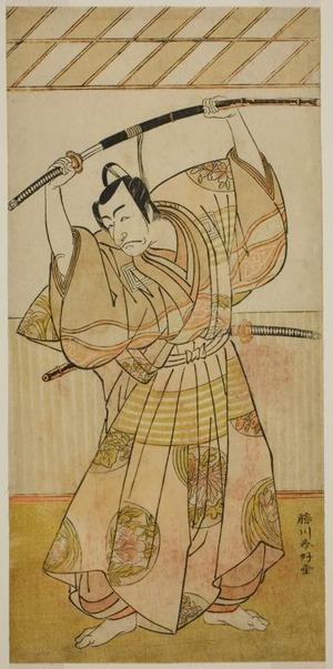 Katsukawa Shunko: The Actor Ichikawa Danjuro V as Taira no Munekiyo (?) from the Play Kitekaeru Nishiki no Wakayaka (?), Performed at the Nakamura Theater (?) in the Eleventh Month, 1780 (?) - Art Institute of Chicago