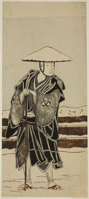 勝川春章: The Actor Bando Mitsugoro I as Abbot Saimyo-ji Tokiyori, Disguised as a Monk, in the Joruri