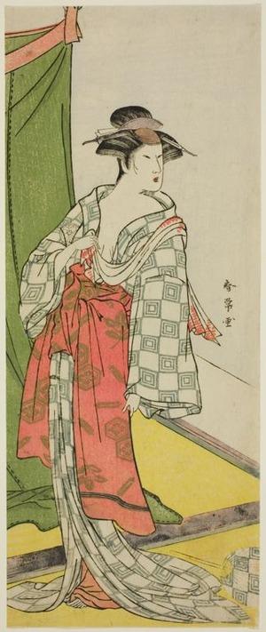 Katsukawa Shunjô: The Actor Segawa Kikunojo as a Courtesan in Summer Attire - シカゴ美術館