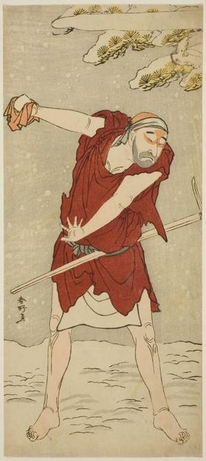 勝川春好: The Actor Onoe Matsusuke I as a Mendicant Monk in the Joruri