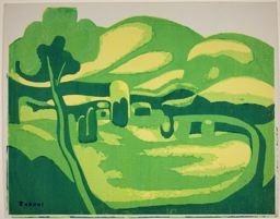 Shinagawa Takumi: Green and Yellow Landscapes - Art Institute of Chicago