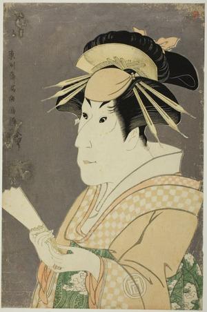 Toshusai Sharaku: The Actor Sanogawa Ichimatsu III as Onayo - Art Institute of Chicago