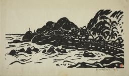 Sasajima Kihei: Sea Coast, Futomi - Art Institute of Chicago