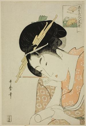 Kitagawa Utamaro: Hanaôgi of the Ôgiya, from the series