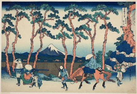 Katsushika Hokusai: Hodogaya on the Tokaido (Tokaido Hodogaya), from the series Thirty-Six Views of Mount Fuji (Fugaku sanjurokkei ) - Art Institute of Chicago