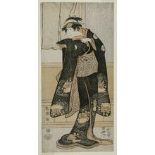 Toshusai Sharaku: The Actor Iwai Hanshiro lV as Otoma, Daughter of Ohina from Inamuragasaki in Kamakura (Yondai-me Iwai Hanshiro no Kamakura Inamuragasaki no Ohina musume Otoma) - Art Institute of Chicago