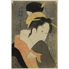 Rekesentei Eiri: Kokonoe of the Maruya, from the series Beauties of the Licensed Quarter (Kakuchu bijin kurabe) - Art Institute of Chicago