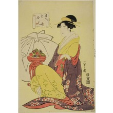 Hosoda Eishi: A Parody of the God of Good Fortune (Fukujin takara awase) - Art Institute of Chicago