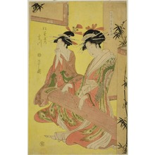 Hosoda Eishi: Beauties Parodying the Seven Sages - A Selection of Younger Courtesans (Shichi kenjin yatsushi bijin shinzo zoroe): Miyagawa of the Matsubaya - Art Institute of Chicago