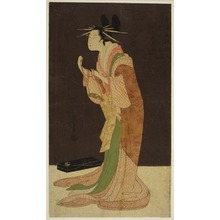 Hosoda Eishi: A Selection of Beauty from the Pleasure Quarters (Seiro bisen awase): Misayama of the Chojiya in Night Dress (Tokogi no zu - Chojiya Misayama) - Art Institute of Chicago