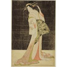 細田栄之: A Selection of Beauty from the Pleasure Quarters (Seiro bijin awase): Courtesans Hired for the New Years Holidays - Takigawa of the Ogiya - シカゴ美術館