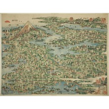 Katsushika Hokusai: The Famous Places on the Tokaido Road in One View (Tokaido meisho ichiran) - Art Institute of Chicago