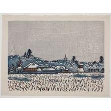 Hiratsuka Un'ichi: Shinobazu-no-ike Pond in Snowy Scene - Art Institute of Chicago