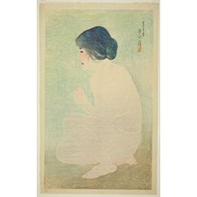 "伊東深水: Early Summer Bath, from the series ""Twelve Images of Modern Beauties"" - シカゴ美術館"