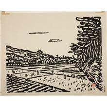 Hiratsuka Un'ichi: Sunset at Matsue Castle, Shimane Pefecture - Art Institute of Chicago