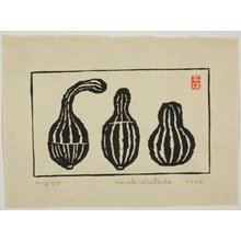 Hiratsuka Un'ichi: Three Gourds (Kabocha) - シカゴ美術館