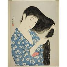 Hashiguchi Goyo: Woman Combing her Hair - Art Institute of Chicago
