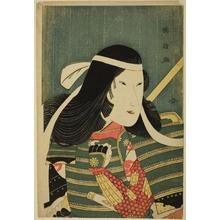 歌川国政: Iwai Kumesaburo in the Role of Lady Tomoe - シカゴ美術館