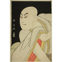 歌川国政: Sawamura Sojuro lll in the Role of the Lay Priest Kiyomori - シカゴ美術館