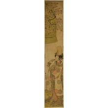 勝川春章: The Actor Segawa Tomisaburo I as Kiyo-hime in the Play Hanagatami Kazaori Eboshi, Performed at the Ichimura Theater in the Third Month, 1774 - シカゴ美術館