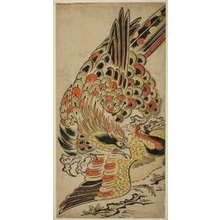 Torii Kiyomasu I: A Hawk Capturing a Crane in Flight - Art Institute of Chicago