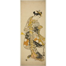 Ishikawa Toyonobu: Standing Geisha - Art Institute of Chicago