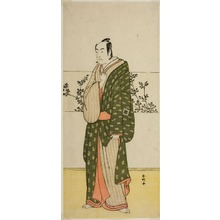 勝川春好: The Actor Ichikawa Monnosuke II, Possibly as Matsuya Soshichi, in the Play Chiyo no Hajime Ondo no Seto (Beginnings of Eternity: The Ondo Straits in the Seto Inland Sea) (?), Performed at the Kiri Theater from the Twenty-seventh Day of the Seventh Month, 1785 - シカゴ美術館