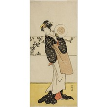 Katsukawa Shunko: The Actor Osagawa Tsuneyo II, Possibly as Misao Gozen, in the Play Chiyo no Hajime Ondo no Seto (Beginnings of Eternity: The Ondo Straits in the Seto Inland Sea) (?), Performed at the Kiri Theater from the Twenty-seventh Day of the Seventh Month, 1785 - Art Institute of Chicago