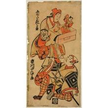 鳥居清信: Ichikawa Danjûrô and Fujita Hananojô - シカゴ美術館