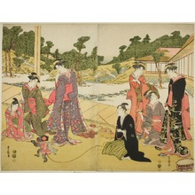 Utagawa Toyokuni I: The Young Monkey Showman (Wakashu sarumawashi) - Art Institute of Chicago