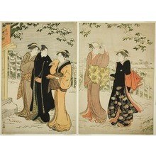 Torii Kiyonaga: Matsuchiyama afer a Snowfall (Matsuchiyama no yuki mi) - Art Institute of Chicago