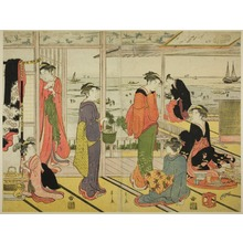 Hosoda Eishi: In a Pleasure House in Shinagawa (Shinagawa no rojo) - Art Institute of Chicago