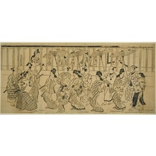 Hishikawa Moronobu: A Procession of High-Ranking Courtesans - Art Institute of Chicago