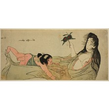 Kitagawa Utamaro: Yamauba Holding Chestnuts while Kintarô Reaches for Them - Art Institute of Chicago