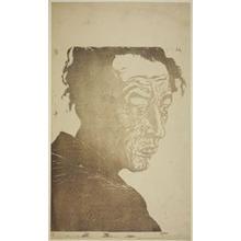 """恩地孝四郎: Portrait of the Poet Hagiwara Sakutaro (1886–1942), Author of """"Ice Island,"""" 1943 - シカゴ美術館"""