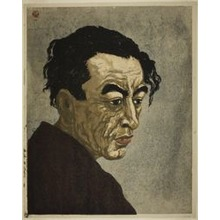 恩地孝四郎: Portrait of the Poet Hagiwara Sakutaro (1886–1942), Author of