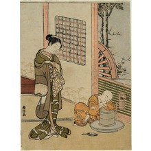 Suzuki Harunobu: The Sleeping Chabo-zu - Art Institute of Chicago