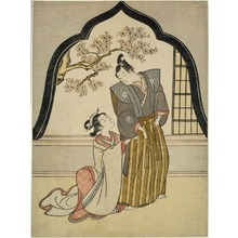鈴木春信: Lovers Dressing Beside a Window - シカゴ美術館