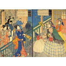 Utagawa Sadahide: True View of a Yokohama Mercantile House (Yokohama shôkan shinzu) - Art Institute of Chicago