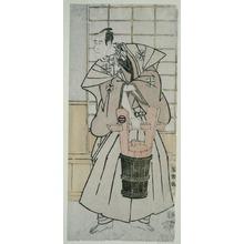 Toshusai Sharaku: The Actoe Ichikawa Komazo llI as Nitta Yoshisada, Actually Oyamada Taro Takaie (Sandai-me Ichikawa Komazo no Nitta Yoshisada, jitsuwa Oyamada Taro Takaie) - Art Institute of Chicago