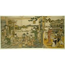 喜多川歌麿: Chinese Beauties at a Banquet - シカゴ美術館