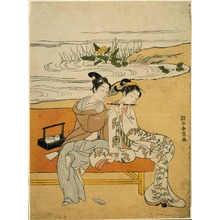 Suzuki Harunobu: Playing the Flute - Art Institute of Chicago