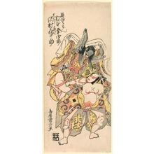 鳥居清長: Matsumoto Koshiro III as Kusunoki Bokon and Sawamura Kijuro as Omori Hikoshichi in the Scene from a Drama (Sandaime Matsumoto Koshiro no Kusunoki Bokon to Sawamura Kijuro no Omori Hikoshichi) - シカゴ美術館